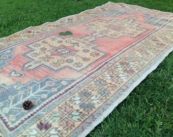 Turkish Vintage Rug, Muted Area Rug, Handmade Rug, Turkish Rug, Kilim Rug, Decor Rug, Wool Rug, Bohemian Rug//250 x 136 cm = 8,1 ft x 4,4 ft