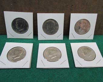 Lot of 6 Bicentennial Half Dollars/Kennedy Bicentennial Half Dollars