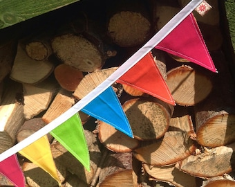 Reversible canvas bunting!