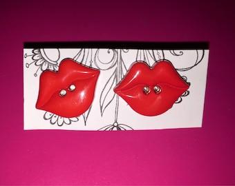 Cherry Red Lips