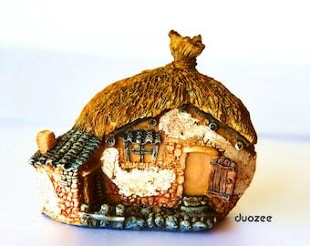 Miniature Enchanted Fairy Garden Fairy House Two Rooms, Fairy Garden House, Miniature Fairy, Gnome House, Fairy House, Terrarium