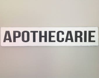 Apothecarie sign farmhouse decor vintage apothecarie sign shabby chic decor fixer upper decor subway sign