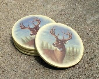 Deer Coaster Set - Cabin Coasters - Hunting Drinkware