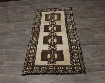 Unique Handmade S Antique Shiraz Wool Persian Area Rug Oriental Carpet 3'7X7'5