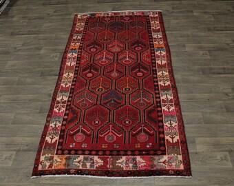 Allover Unique Design Handmade Hamedan Persian Rug Oriental Area Carpet 5X10