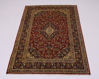 Nice S Antique Gold-washed Mashad Persian Rug Oriental Area Carpet Sale 6'4X9'5