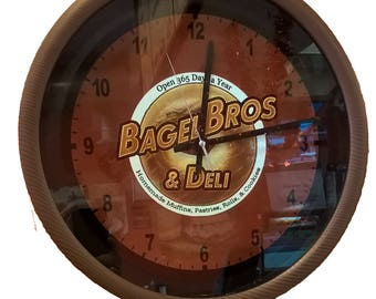 Custom clock Bagel Business Clock