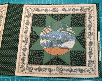 Traditional Quilt Pillow Panel - Vintage 80's Fabric