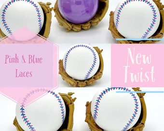 BASEBALL Gender Reveal Baseballs : Baseball Gender Reveal Balls Pack Gender Reveal Baseball