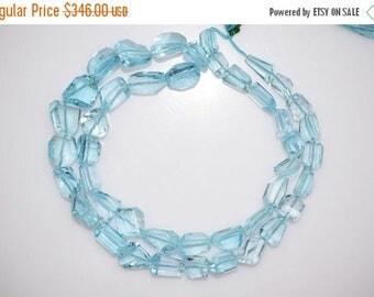 50% OFF Sky Blue Topaz Faceted Nugget Briolette - Sky Blue Topaz Faceted Tumble Beads , 6x8 - 11x12 mm,  BL780