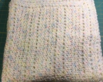 Beautiful hand knit Baby Blanket - boy or girl