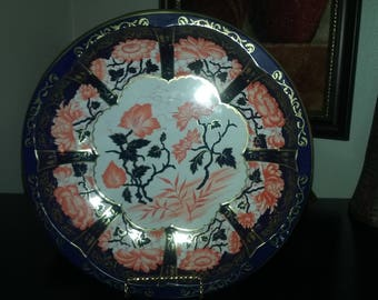 """Daher Decorated Tin Ware England Vintage 1971 10"""" Floral"""