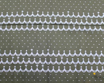 Japanese Fabric | Japanese Cotton Fabric | KOIZUMI LIFETEX | desecration with dots, wave grey