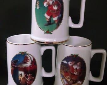 Coca cola 1996 collector edition mugs. Set of 3