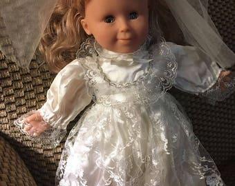 "Vintage Tender Images 13"" Doll Soft Luv Blond, First Communion/wedding"