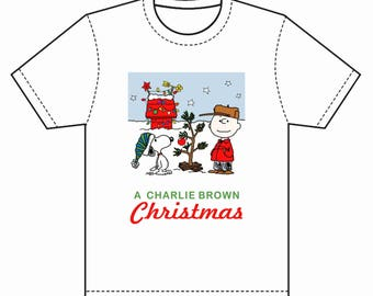 INSTANT DOWNLOAD A Charlie Brown Christmas T-Shirt Transfer Instant Download and Print