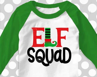 Elf squad svg, Christmas svg, elf svg, SVG, DXF, EPS, teacher svg, cutter files, dxf files, funny elf svg, elf ideas, salon svg, teacher