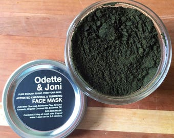 Activated Charcoal Face Mask with Turmeric & Bentonite Clay /Acne Treatment, Detox Mask, Activate Charcoal Clay Mask, Facial Mask for Acne