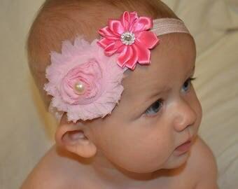Vibrant Pink Posey Baby Headband