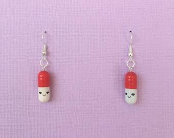 Pill Earrings (more colours)
