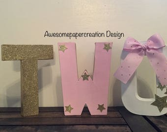 Number two,photo prop,2nd birthday photo prop,2nd birthday party,twinkle little star letters,twinkle little star birthday,2nd birthday decor