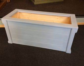 Solid Toy Box - Storage crate- Annie Sloan Louis Blue