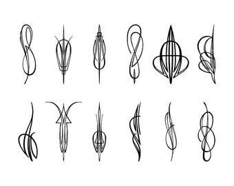 Pinstriping - Download Digital Clipart Silhouette Vector Files