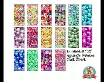 SPRINKLES, Inchies, Clipart, Clip Art Commercial, Fake Sprinkles, Unicorn Sprinkles, Cake Sprinkles, Cupcake Sprinkles, Jewelry Supplies
