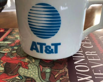"Vintage AT&T ""Death Star"" Logo Coffee Mug - Vintage Telephone Company Collectibles"