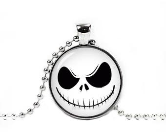 Jack Skellington Necklace with Pendant Fandom Jewelry Nightmare before Christmas Jack and Sally Necklace