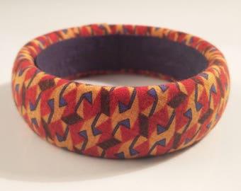 ethnic fabric bangle bracelet