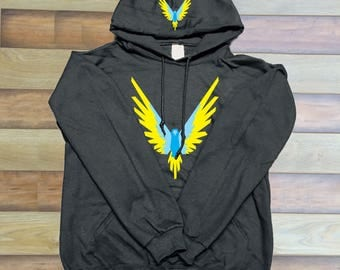 Kids size Blue Maverick Bird Front/hood hoodie  Unisex  Team 10 Jake Paul JP hoodie best price Inspired by Logan