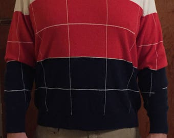 Vintage LaMode Men's V-Neck Sweater