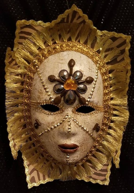 Africanus Is An Original, Handcrafted, One of a Kind, Paper Mache Designer ArtMask Created by Maskweaver, Soraya Ahmed in Naples, Florida