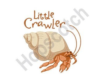 Hermit Crab - Machine Embroidery Design, Little Crawler