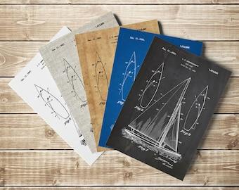 Sail Boat Printable, Sailboat Art, Sailor Poster, Sailor Printable, Gamecock Racing, Gamecock Sailboat,Herreshoff Gamecock, INSTANT DOWNLOAD