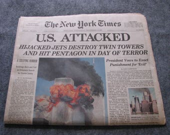 911 New York Times Newspaper