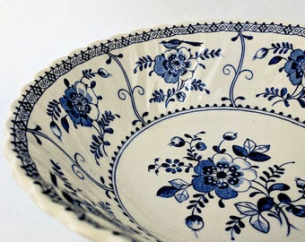 Vintage Serving Bowl Blue and White Johnson Brothers Indies