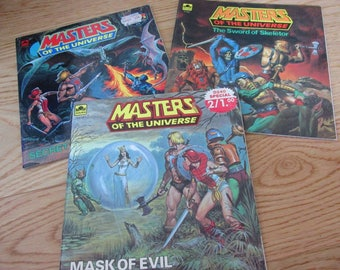 Masters Of the Universe book lot - Mask of Evil, The Sword of Skeletor, Secret of the Dragon's Egg