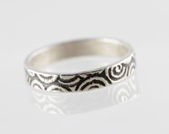 Modern band ring / stacking ring No.. 3