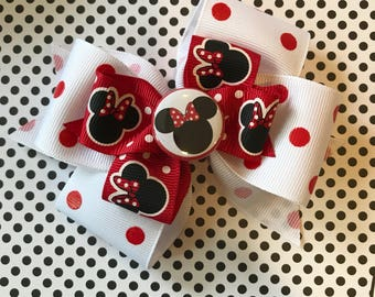 Minnie Mouse Bow (Free Shipping in US)