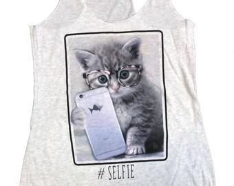 Kitten Selfie Women Tank Top