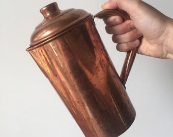 Vintage copper coffee pot