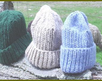 Bulky Barn Hat PDF Easy Knitting Pattern