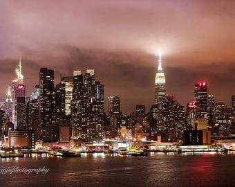 Fine Art Photography Print, New York Skyline  Photography,  Photo, Home Decor, Gift, Gift Ideas.