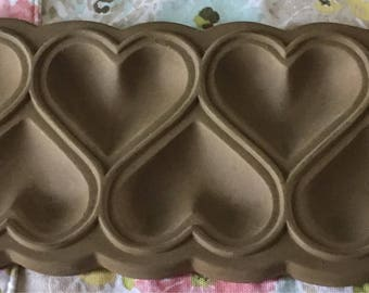 Ceramic Heart Cookie Mold