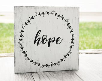 Hope Sign -  Christian Sign - Rustic Sign - Home Decor