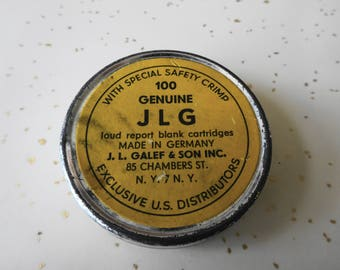 Vintage J. L. Galef & Son Loud Report Blank Cartridges Tin Germany Percussion