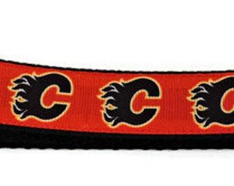 Calgary Flames Adjustable Dog Collar