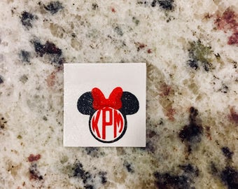 Custom Mickey/Minnie Monogram Vinyl Magic Band Decal 2.0